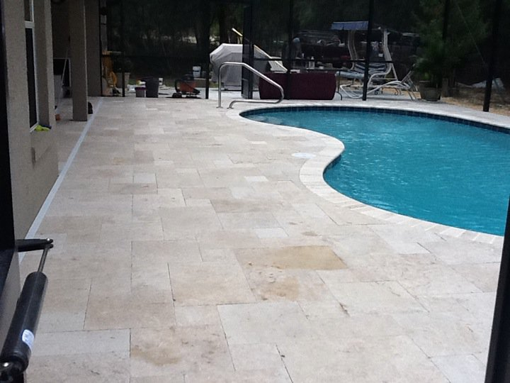 Travertine Pool Decks